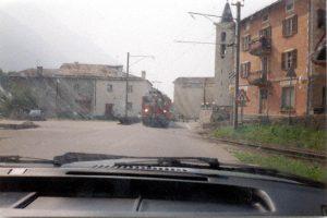 Trein over de Berninapas,BerninapassZwitserland, Juni 1994