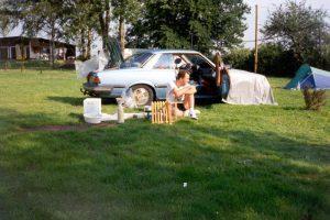 Camping heenreis, Willstätt, Duitsland, Juni 1994