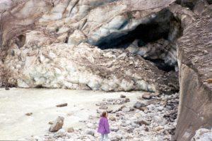 Gletsjermond, Morteratsch Gletsjerpark, Zwitserland, Juni 1994