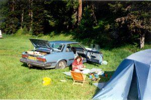 Camping, St. Moritz, Zwitserland, Juni 1994