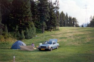 Camping St. Moritz Zwitserland, Juni 1994