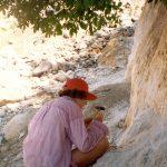 Mineralen zoeken in het BinntallBinntall ZwitserlandAugustus 1993