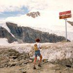 Wandelen in de sneeuwSaas Fee  ZwitserlandAugustus 1993