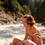 Tanja aan de LonzaLötschentall  ZwitserlandAugustus 1993