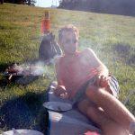 BBQ op de camping,St. Moritz,Zwitserland, Juni 1994