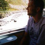 Treinreis naar ZermattZermatt ZwitserlandAugustus 1993